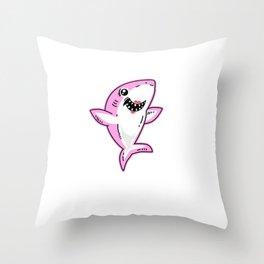 Mommy Shark - Shark mother Throw Pillow