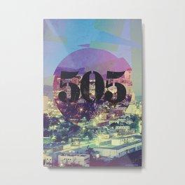 "Albuquerque – ""The 505"" Metal Print"