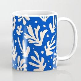 matisse pattern with leaves in blu Coffee Mug