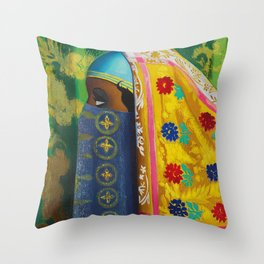 Behind the Veil - Woman from Algeria portrait by Joseph Stella Throw Pillow