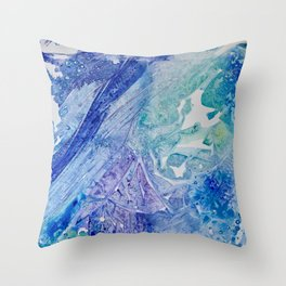 Water Scarab Fossil Under the Ocean, Environmental Throw Pillow