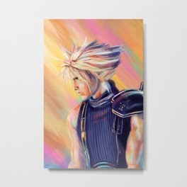 Cloud Strife - Final Fantasy 7 Remake Metal Print