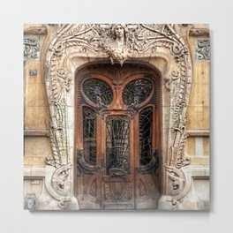 Art Nouveau 7th Arrondissement Paris France Ornate Doorway Metal Print