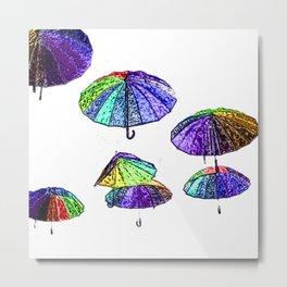 Umbrellas Metal Print