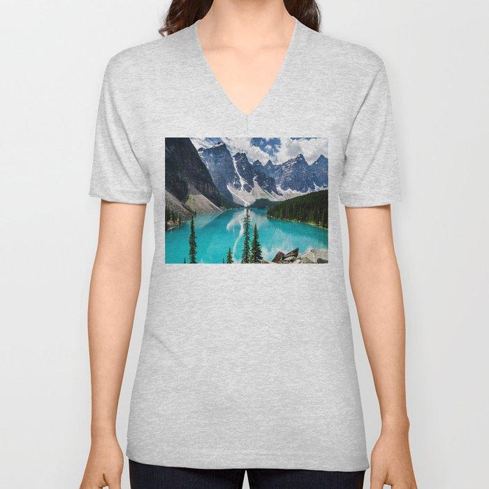 Lake Moraine Banff Unisex V-Neck