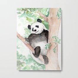 Panda, Hanging Out Metal Print