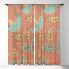 Retro floral club Sheer Curtain