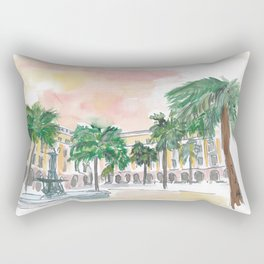 Barcelona Placa Reial in the Sun Rectangular Pillow