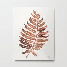 Fern Leaf – Rose Gold Palette Metal Print