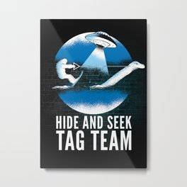 Bigfoot Loch Ness Hide And Seek Tag Team Metal Print