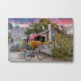 Early Morning at Palm Coast Cafe Metal Print