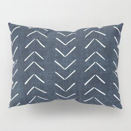 Mud Cloth Big Arrows in Navy Pillow Sham