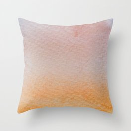 Gradient watercolor - orange and living coral Throw Pillow