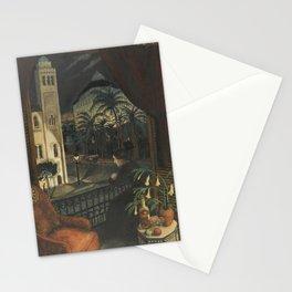 Algiers, Mediterranean Casbah Street Scene by Nikolai Astrup Stationery Cards