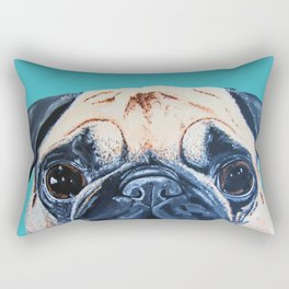 Wide Eyed Pug Rectangular Pillow