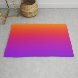 Colorful Gradient Pattern Neon Abstract Rainbow Rug