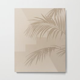 Beach Day Beige I Metal Print