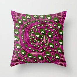 Soft and still lotus pond Throw Pillow