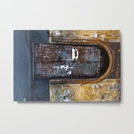 Old Sicilian door of Catania Metal Print