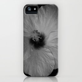 Hawaiian Dreams in Black and White  iPhone Case