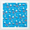 Sea Retro Pattern by shaggy