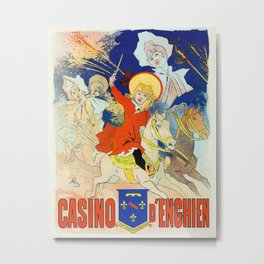 1890 Casino Enghien France Metal Print