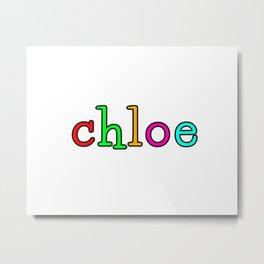 chloe Metal Print