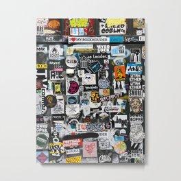 A Dutch wall full of stickers Metal Print