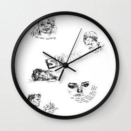 Skins: effy, jj, sid, cassie, freddie Wall Clock