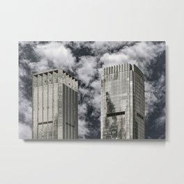 Two cube skyscrapers, architecture, Shenzhen downtown (China) (2018-6-SHZ10) Metal Print