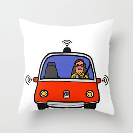Self Driving Car Throw Pillow