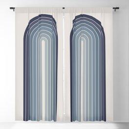 Gradient Arch - Blue Tones II Blackout Curtain