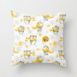 Winter Pattern 6 Throw Pillow