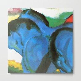 "Franz Marc ""The Little Blue Horses"" Metal Print"