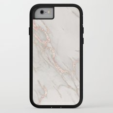Marble Rose Gold Blush Pink Metallic by Nature Magick iPhone 7 Adventure Case