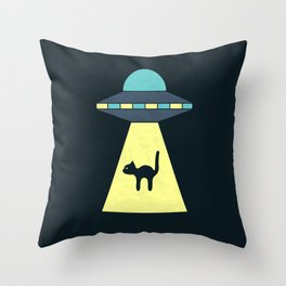 We Just Want The Cat Throw Pillow