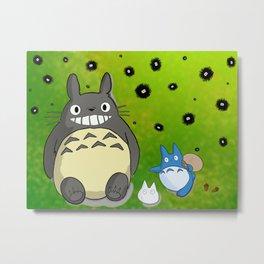 Totoro&Friends Metal Print