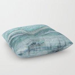 Mystic Stone Aqua Teal Floor Pillow