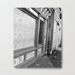 Unsafe Building Metal Print