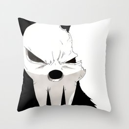 Shinigami Broken Mask Throw Pillow