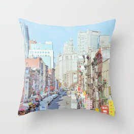Chinatown - New York Travel Photography Throw Pillow