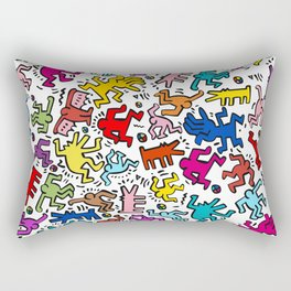Figures Keith Haring Rectangular Pillow