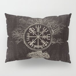 Vegvisir  and Tree of life  -Yggdrasil Pillow Sham