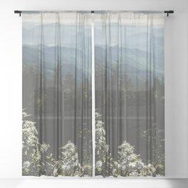 Smoky Mountains - Nature Photography Sheer Curtain