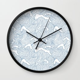 Japanese Wave Wall Clock