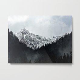 Misty Mountain Forest Foggy Moody Landscape Metal Print