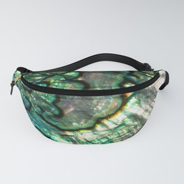 Shimmering Green Abalone Mother of Pearl Fanny Pack