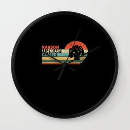 Karson Legendary Gamer Personalized Gift Wall Clock