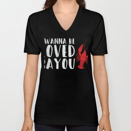 Crayfish Freshwater Lobsters T-shirt Unisex V-Neck