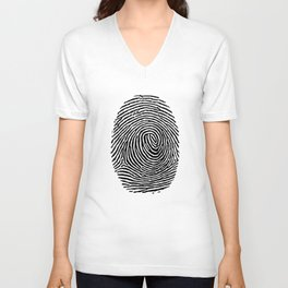 Fingerprint CSI crime scene Unisex V-Neck